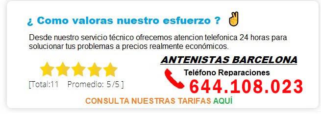 antenistas Barcelona precios